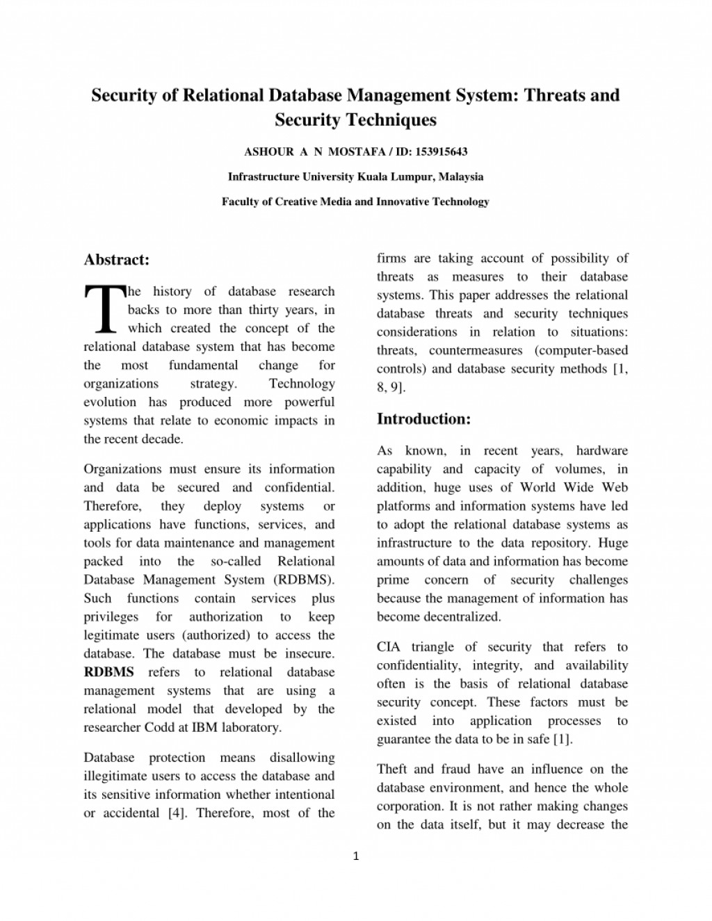 001 Largepreview Research Paper Database Security Fascinating Abstract Large