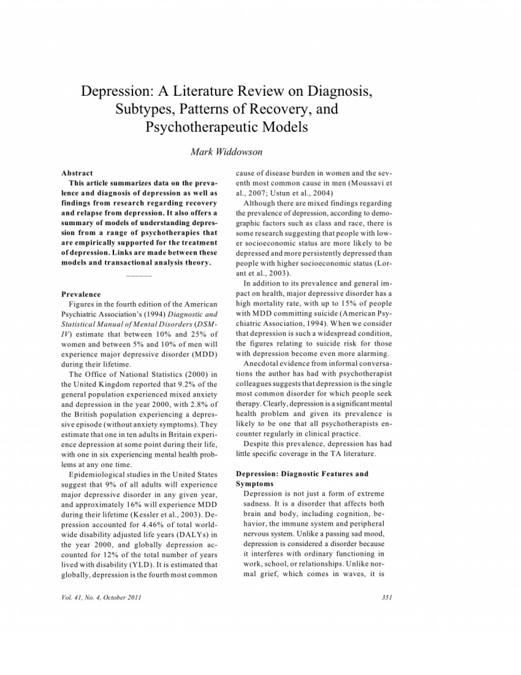 001 Largepreview Research Paper Depression Review Of Related Marvelous Literature Large