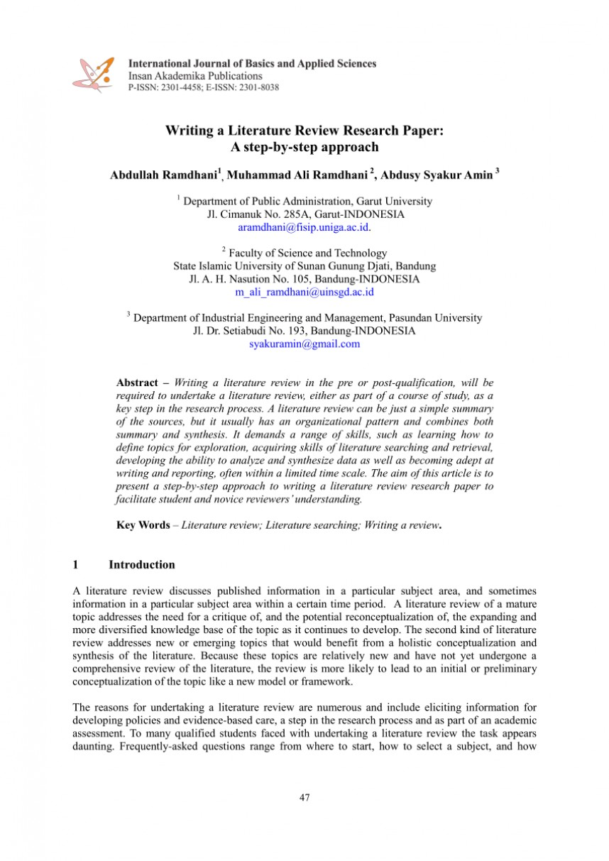 001 Largepreview Research Paper Example Of Review Literature Unusual In Related And Studies