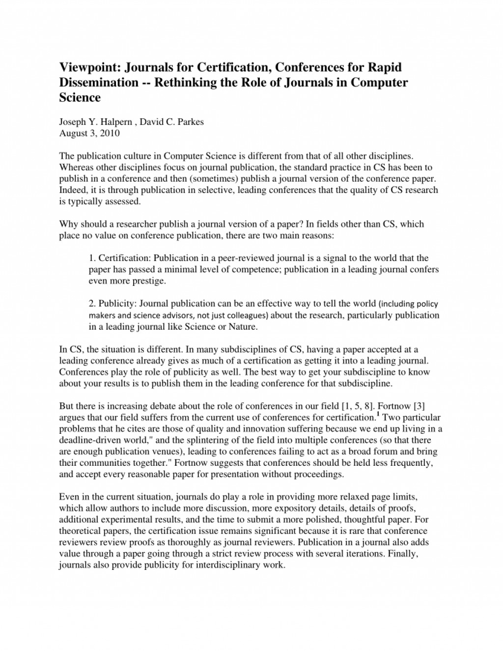 001 Largepreview Research Paper How To Publish In Computer Fearsome A Science Large