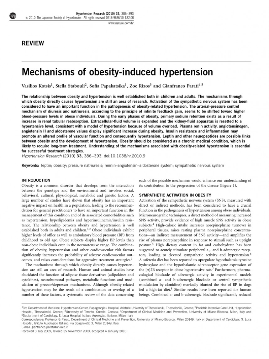 001 Largepreview Research Paper Obesity And Hypertension Dreaded Papers