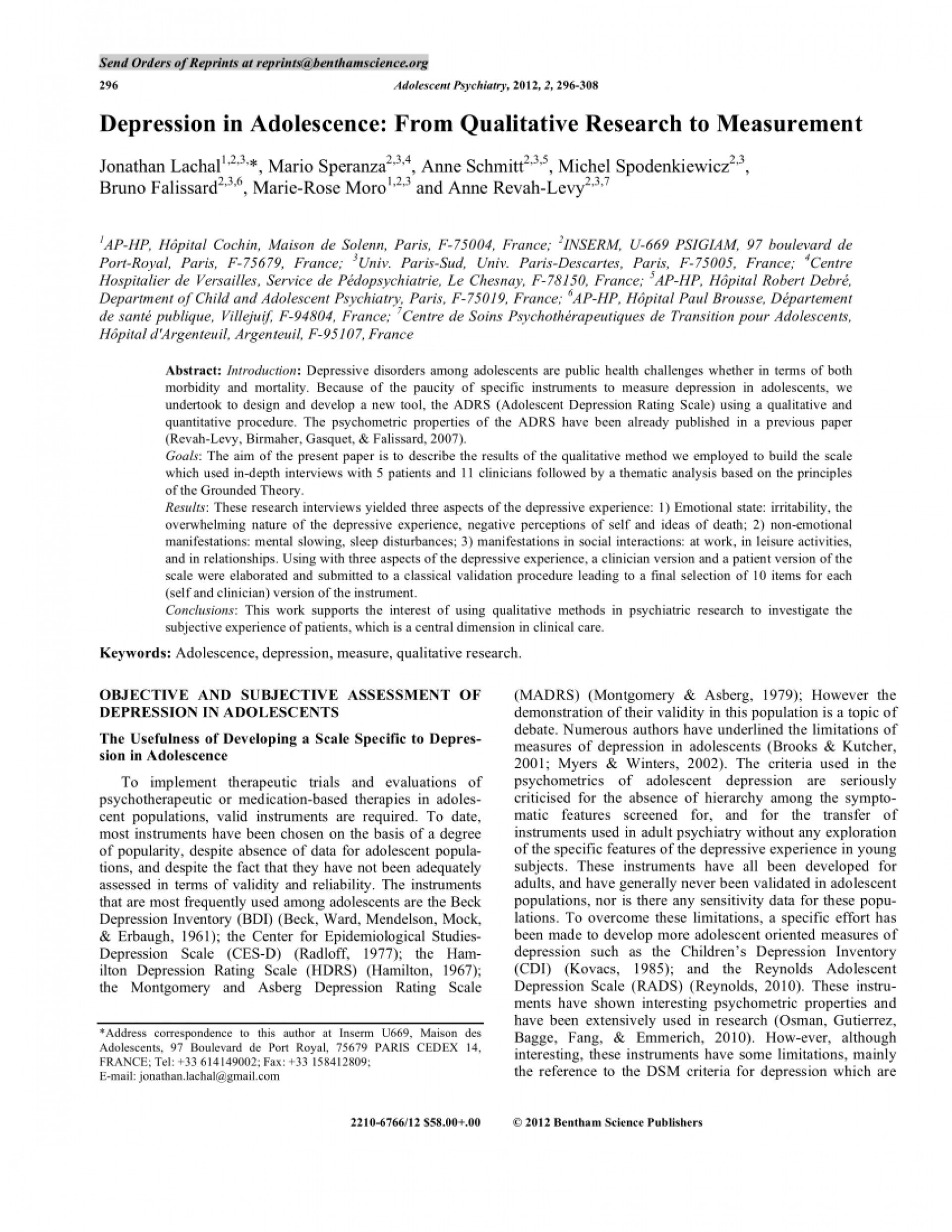 001 Largepreview Research Paper On Unforgettable Depression In High School Students College Pdf 1920