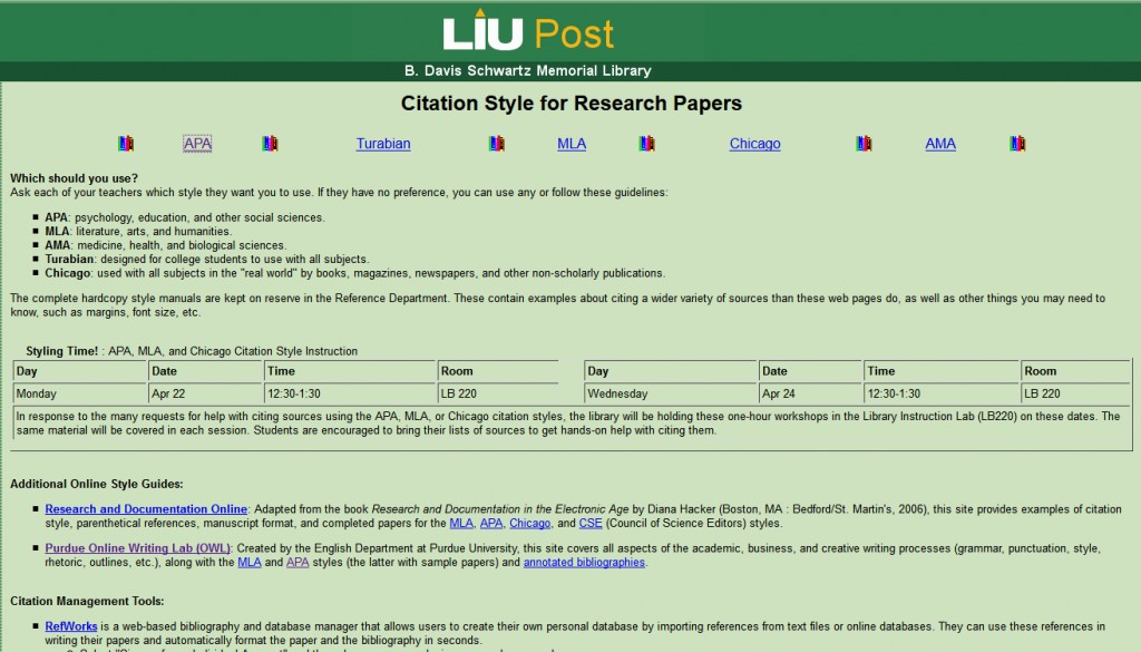 001 Liu Homepage Research Paper Long Island University Citation Style For Archaicawful Papers Large
