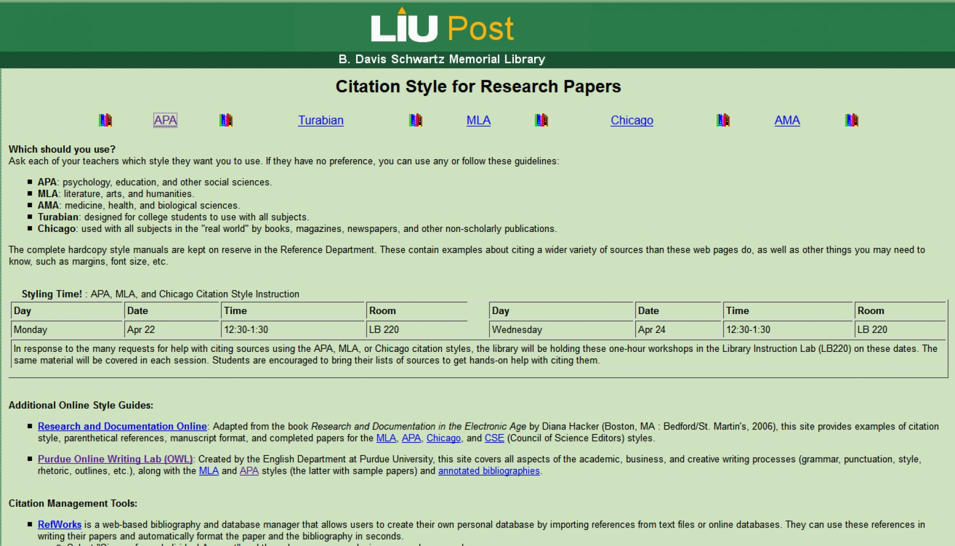 001 Liu Homepage Research Paper Long Island University Citation Style For Archaicawful Papers 1920