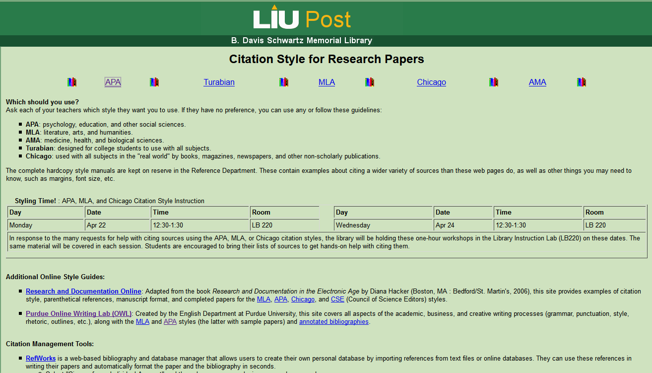 001 Liu Homepage Research Paper Long Island University Citation Style For Archaicawful Papers Full