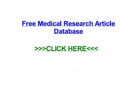 001 Medical Researchs Database Page 1 Stupendous Research Papers