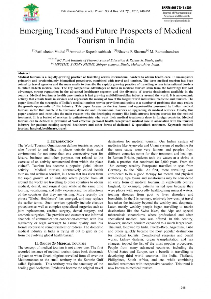 Fantastic Medical Tourism Research Papers Pdf ~ Museumlegs