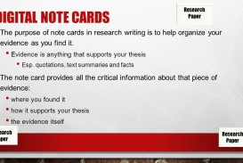001 Note Cards For Researchs Slide 2 Excellent Research Papers Template Paper Notecards Mla Format