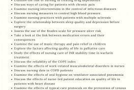 001 Nursing Research Proposal Topics List Thumbnail Paper Topic