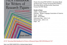 001 Page 1 Research Paper Mla Handbook For Writers Of Papers 6th Edition Pdf Marvelous Download