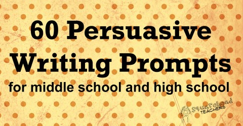 001 Pers Writing Prompts For Ms And Hs Research Paper Persuasive Topics Middle Incredible School High Essay Activities 480