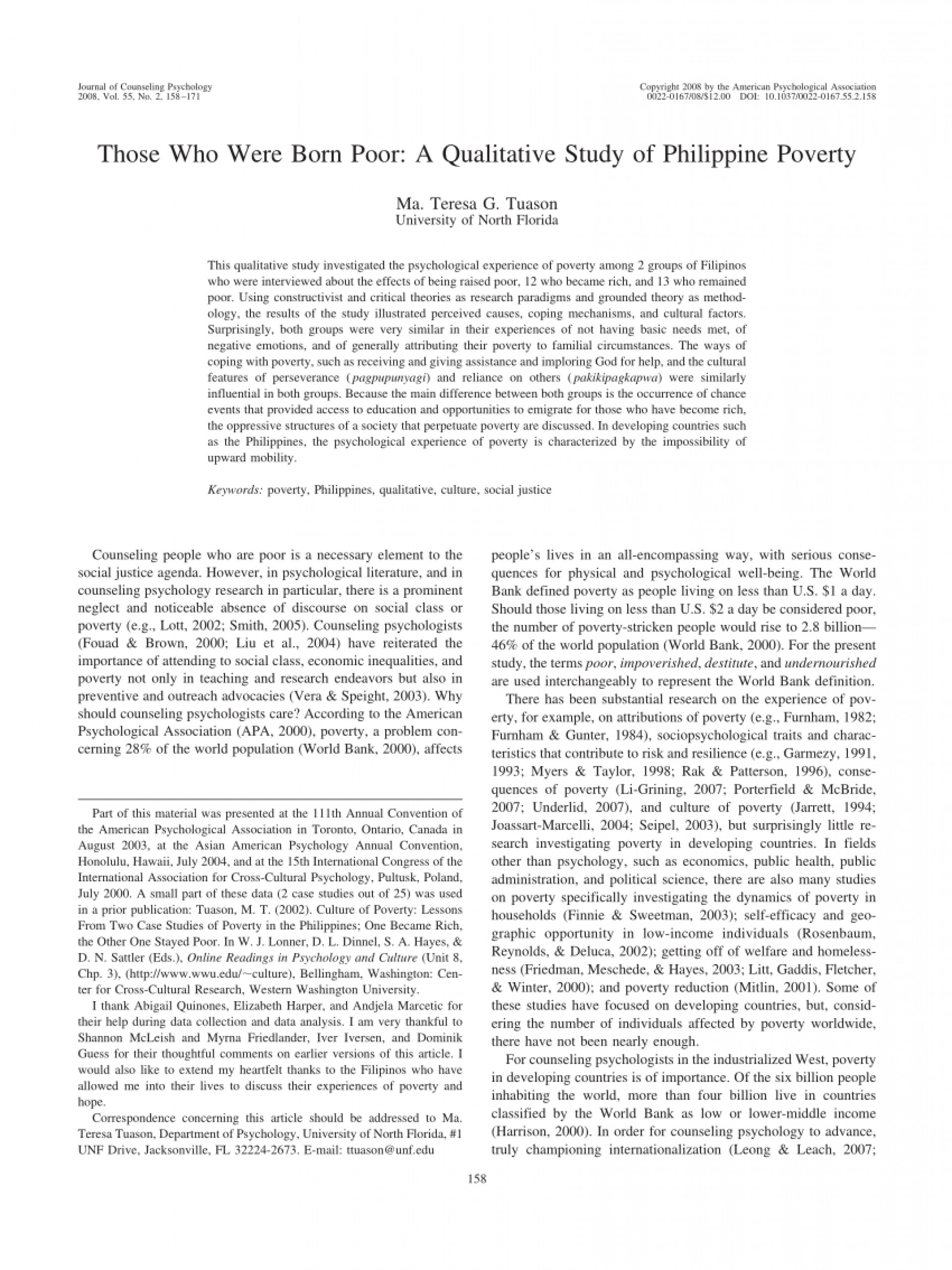 001 Poverty In The Philippines Research Paper Pdf Impressive 1920