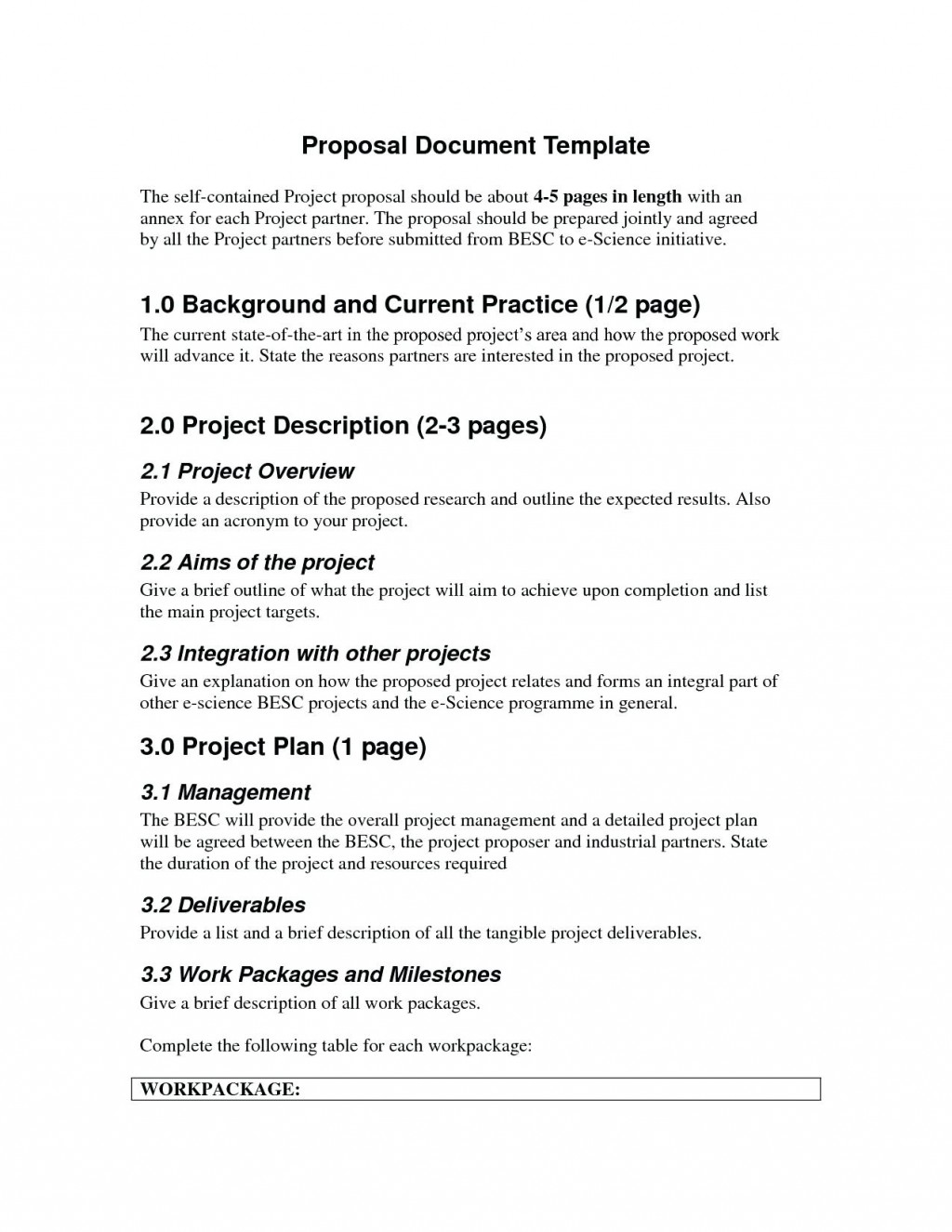 project management research proposal