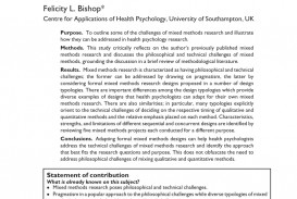 001 Psychology Research Methods Paper Example Stunning Section