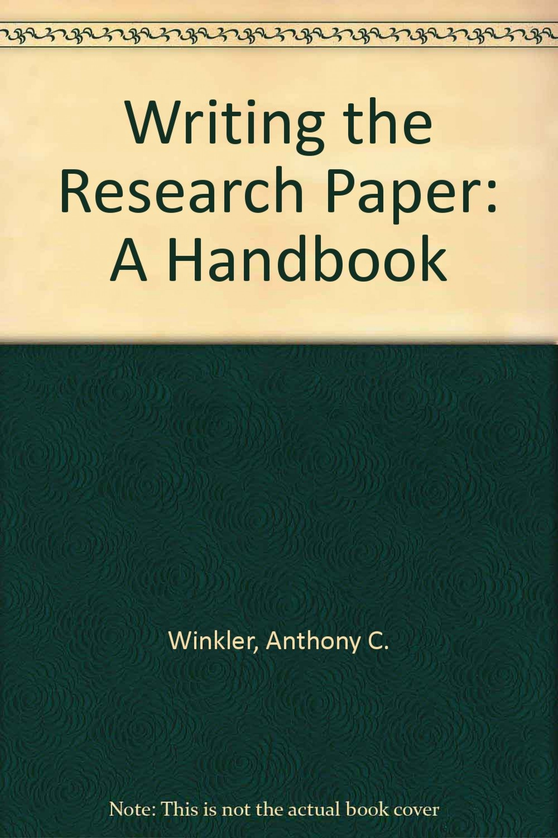 001 Research Paper 71n0iwptm6l Writing The Wonderful A Handbook 8th Edition 1920