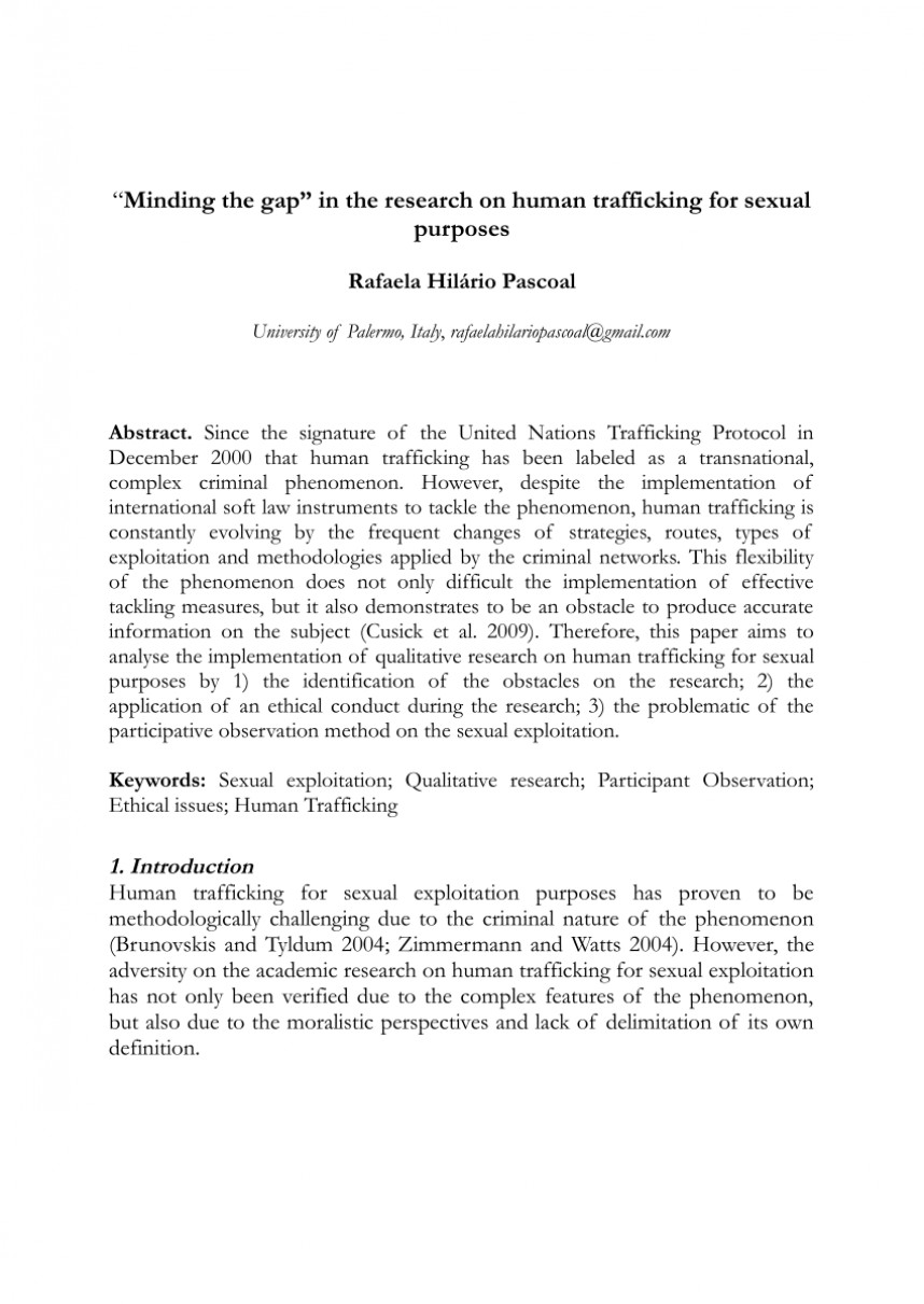 001 Research Paper About Human Trafficking Excellent Topics On In Malaysia