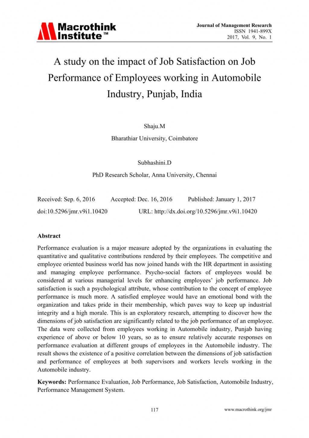 001 Research Paper Abstract For On Job Satisfaction Awesome Large