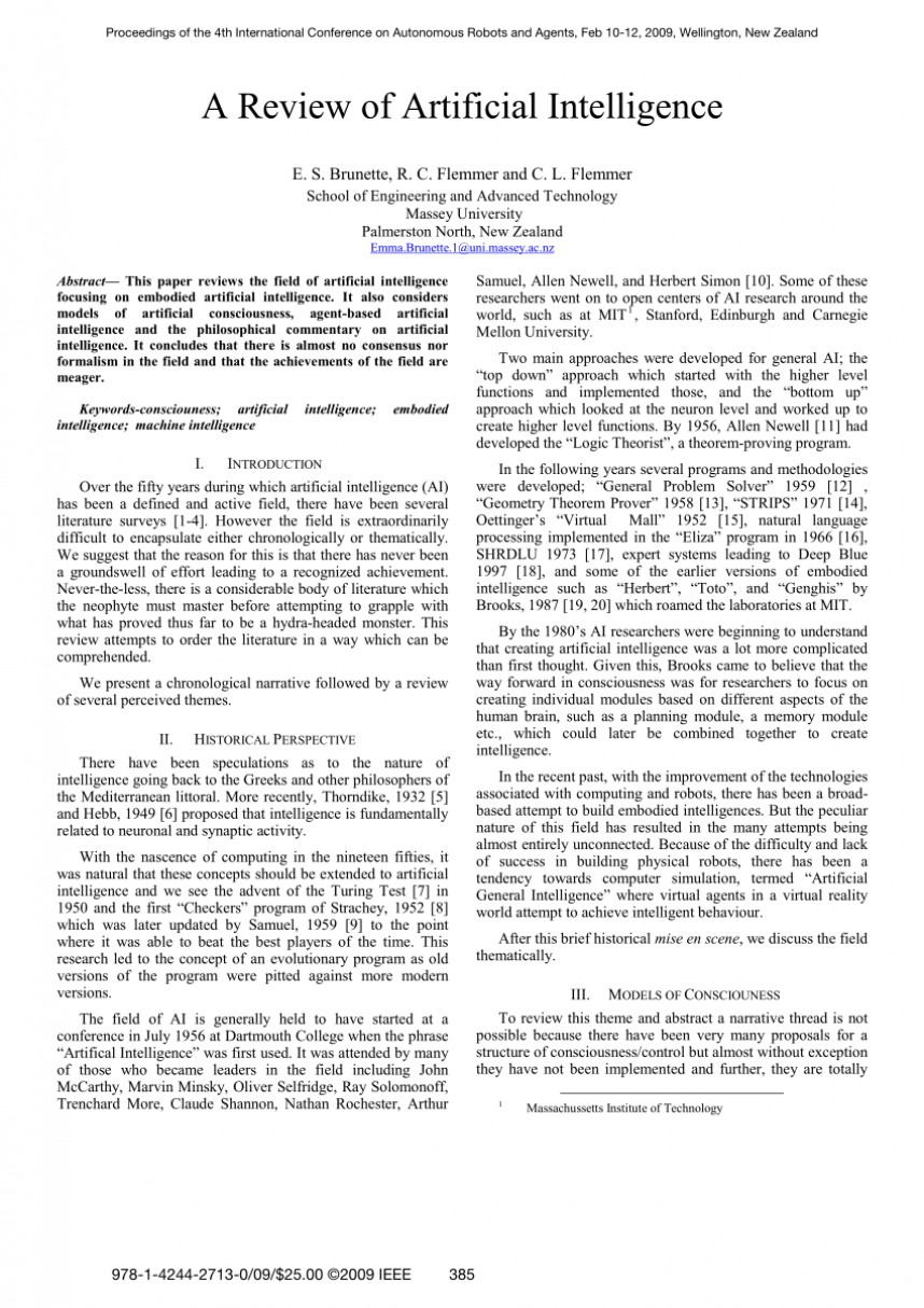 001 Research Paper Artificial Intelligence Ieee Papers Pdf Impressive