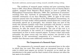 001 Research Paper Basic Component Of Exceptional Important Components In Four Major Parts Outline