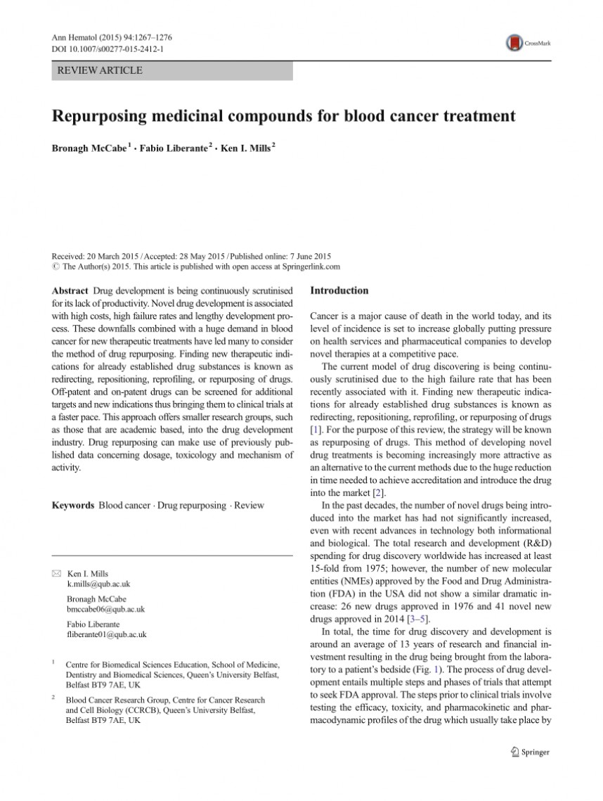 001 Research Paper Blood Cancer Treatment Exceptional