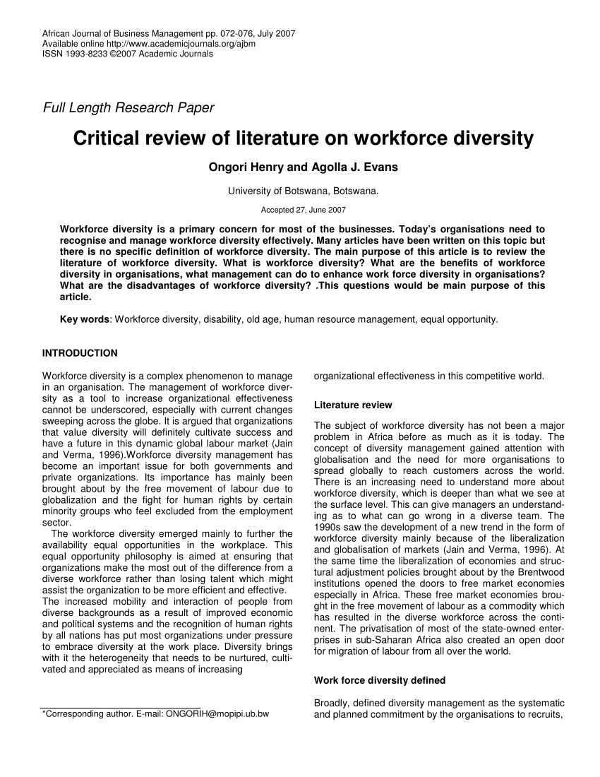001 Research Paper Business Topics For Workplace Diversity Outstanding Full