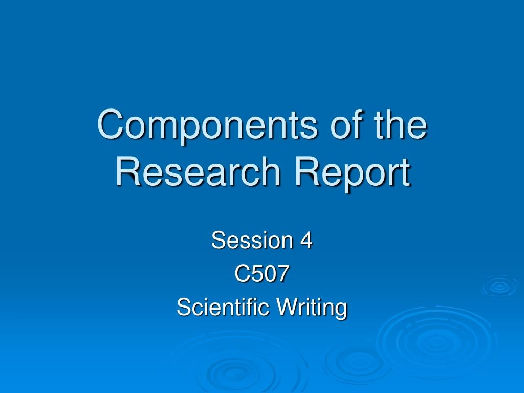 001 Research Paper Components Of The Report L Component Wondrous Ppt 5 Parts A Qualitative Large