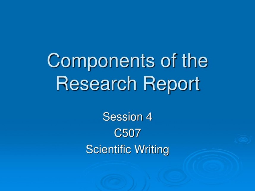 001 Research Paper Components Of The Report L Component Wondrous Ppt 5 Parts