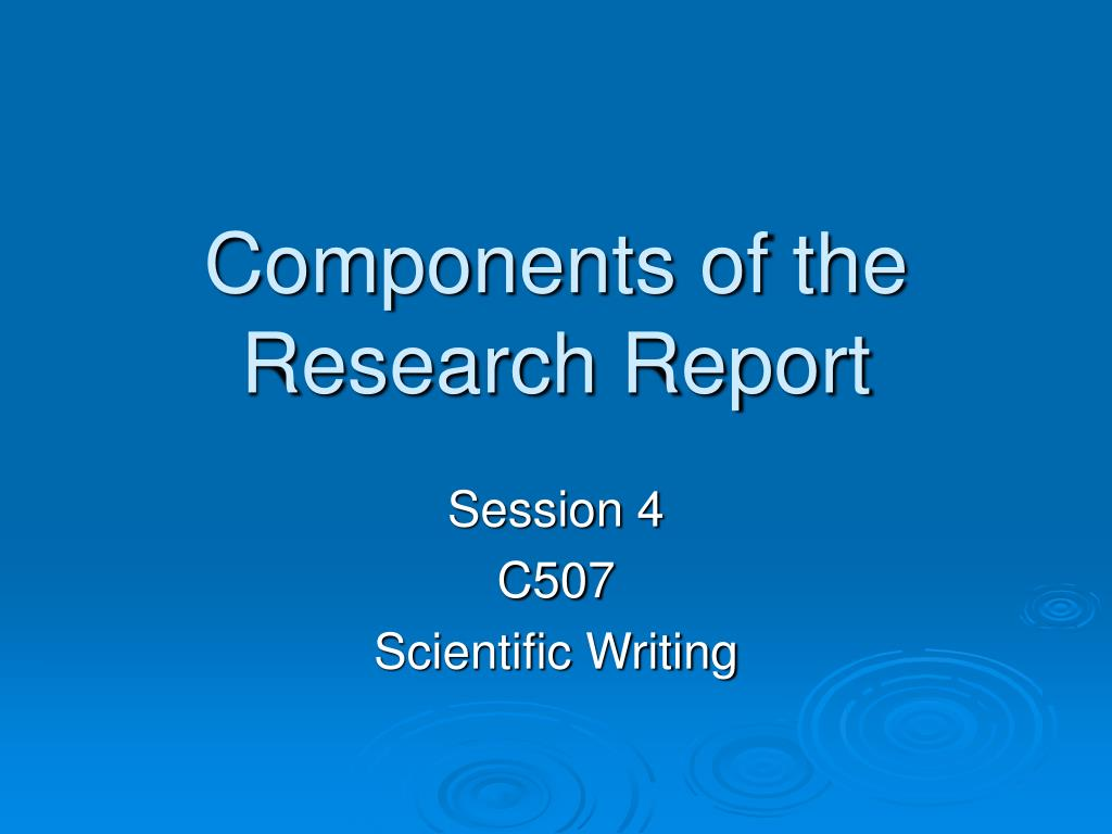 001 Research Paper Components Of The Report L Component Wondrous Ppt 5 Parts A Qualitative Full