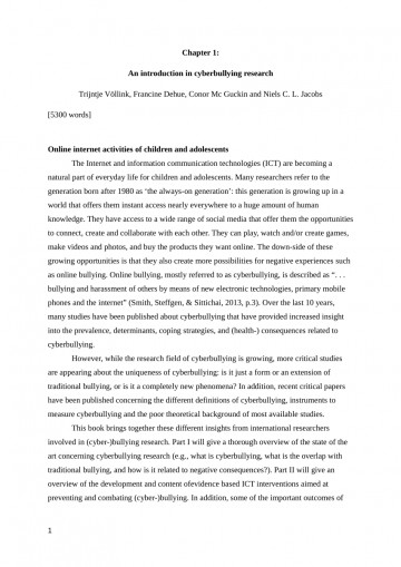 001 Research Paper Cyberbullying Introduction Magnificent Cyber Bullying Paragraph About Background Of The Study 360
