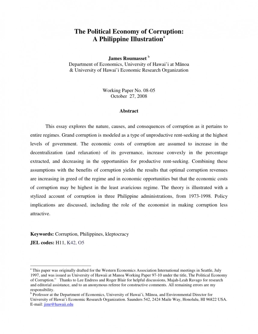 001 Research Paper Economy Remarkable Economics Topics In Philippines Cashless