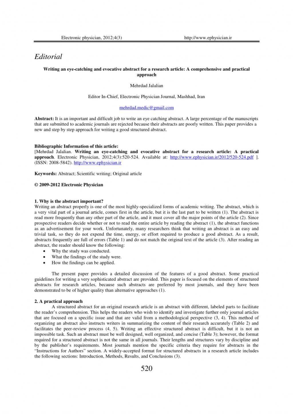 001 Research Paper How To Write An Effective Abstract For Pdf Phenomenal A Large