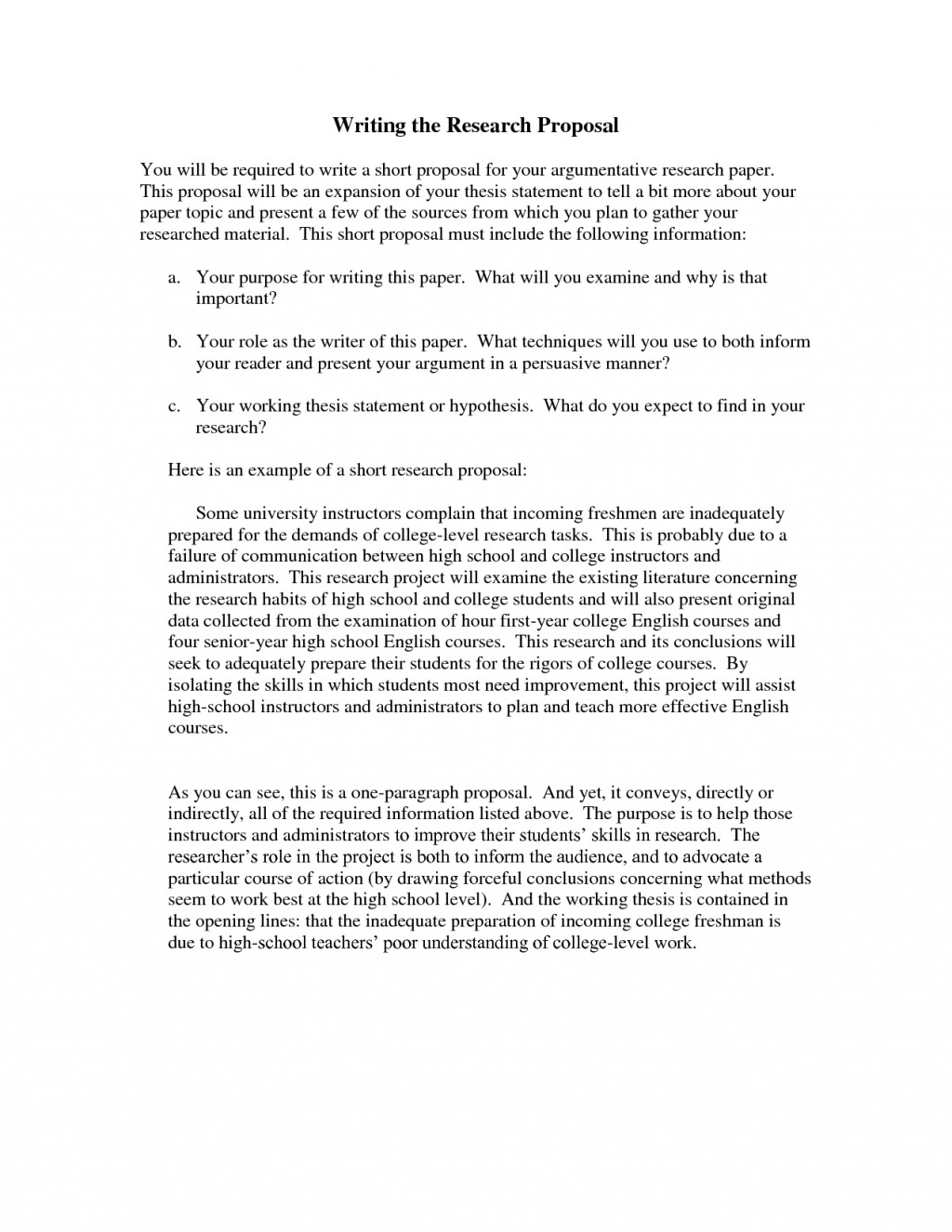 001 Research Paper How To Write Short Proposal For Breathtaking A Large