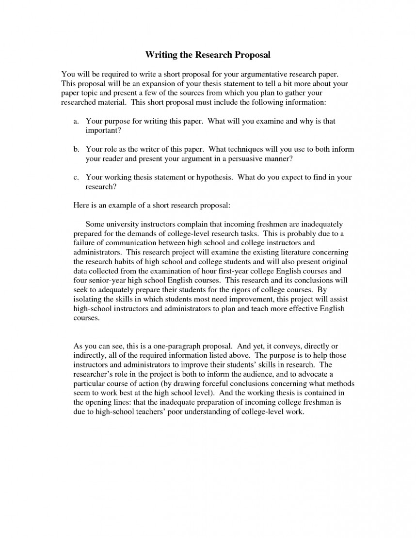 001 Research Paper How To Write Short Proposal For Breathtaking A