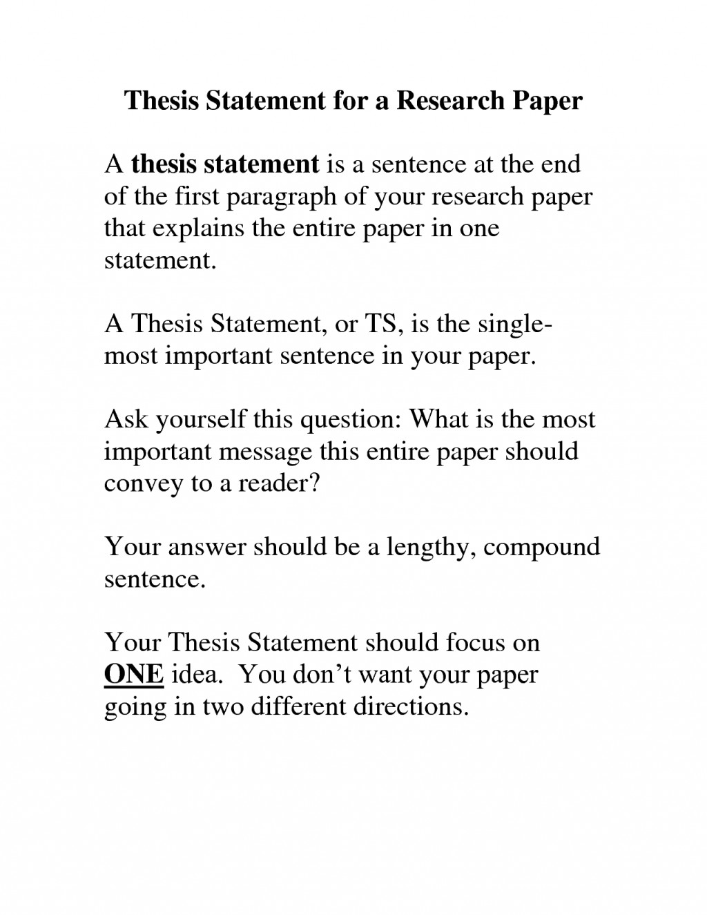 001 Research Paper How To Write Thesis Statement Wonderful A For Pdf Ppt Apa Large