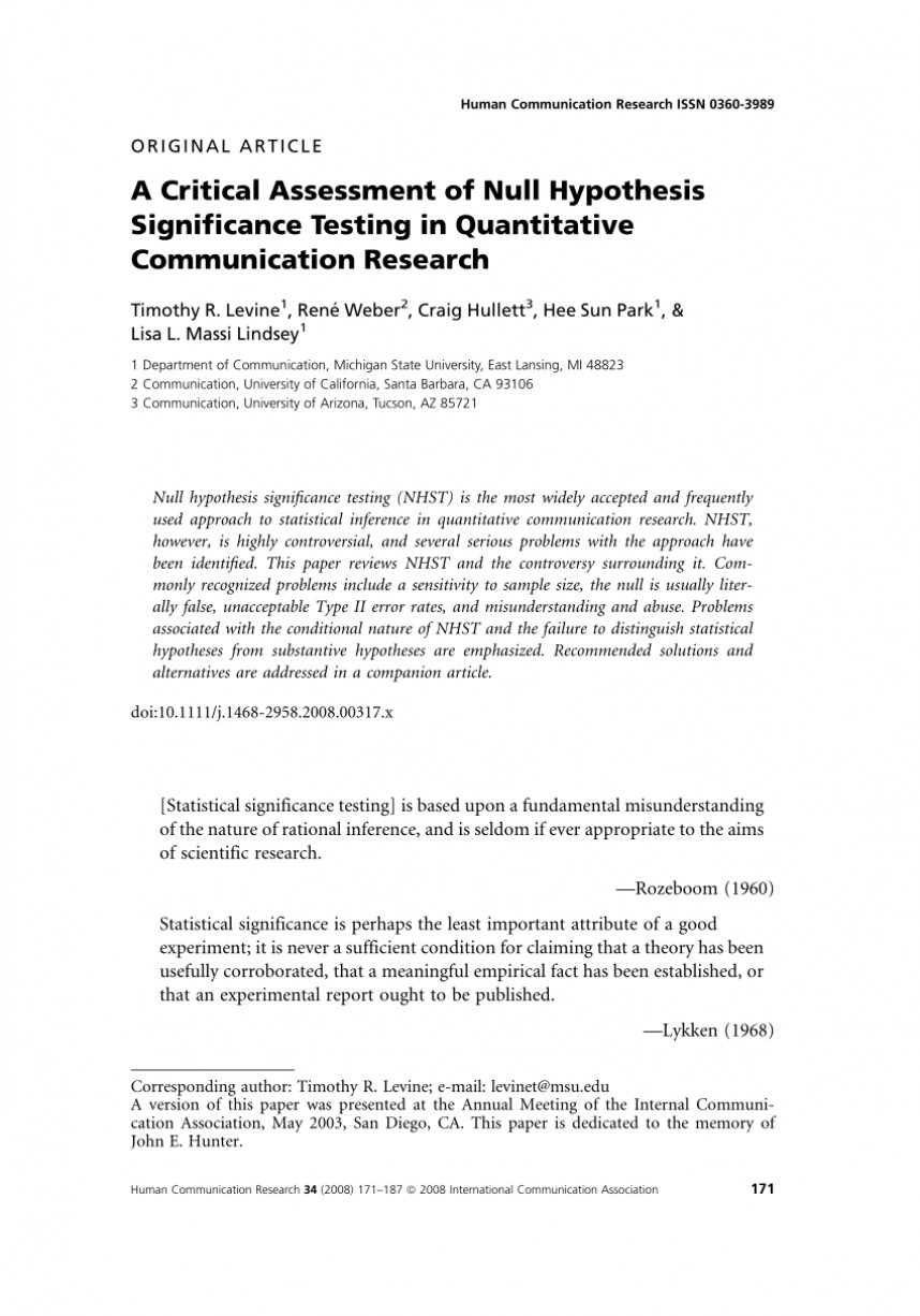 001 Research Paper Hypothesis In Fantastic Pdf Null And Alternative Definition