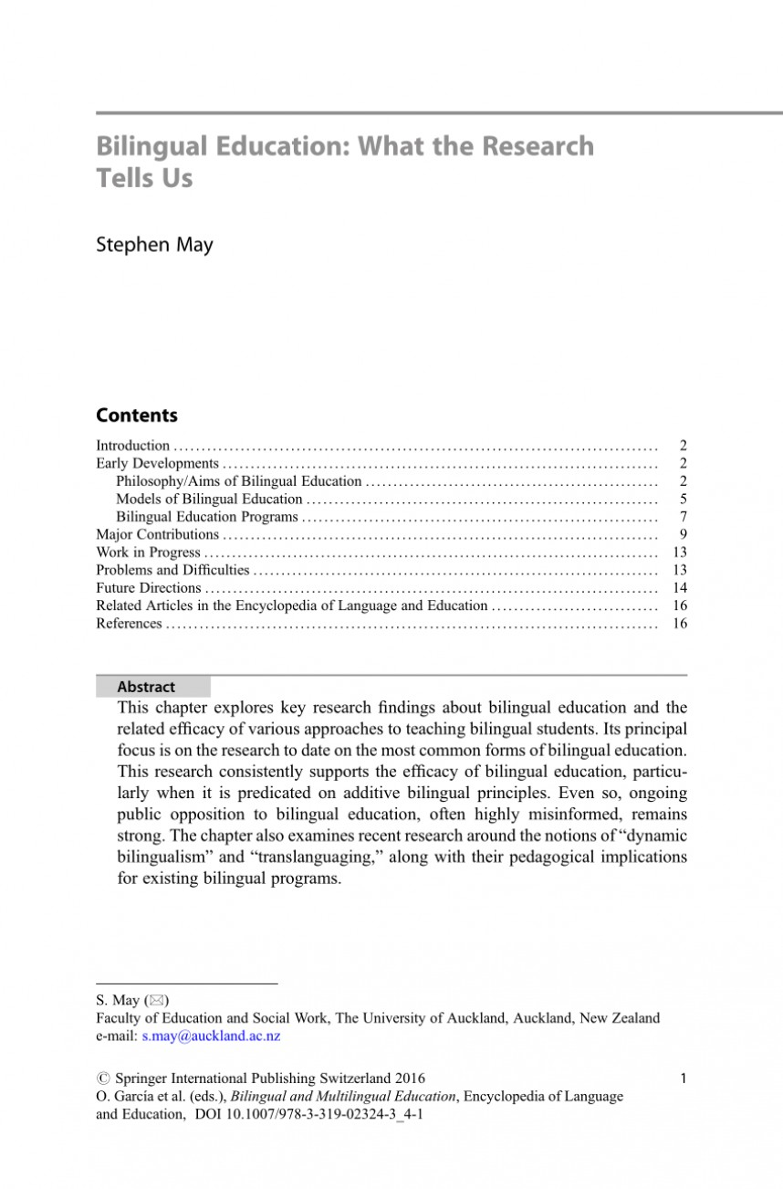 001 Research Paper Largepreview Bilingual Education Unusual Pdf