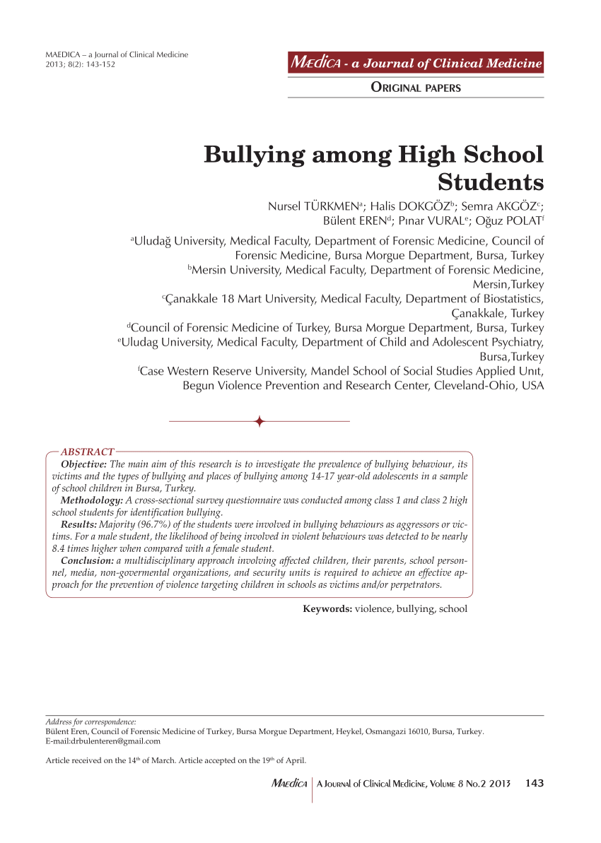001 Research Paper Largepreview Bullying Example Beautiful Pdf Full