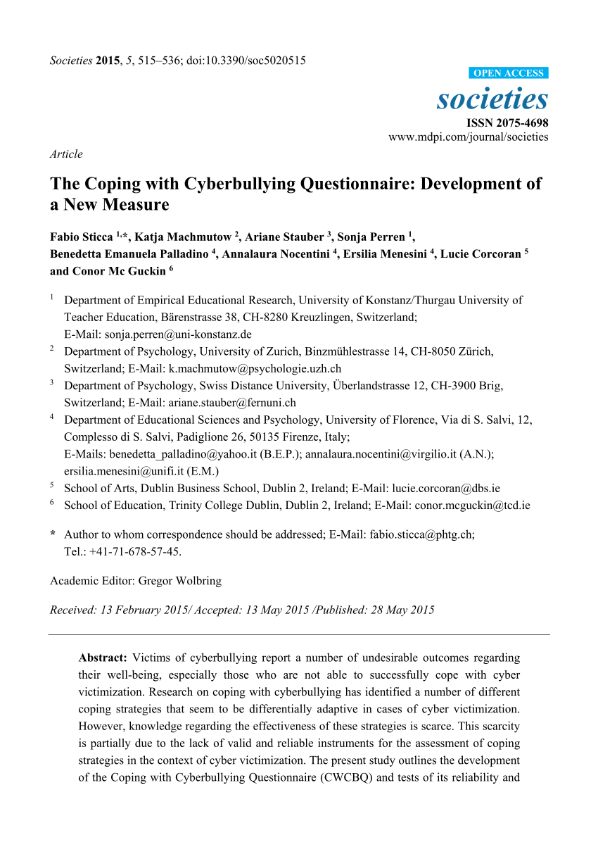 001 Research Paper Largepreview Cyberbullying Dreaded Questionnaire Full