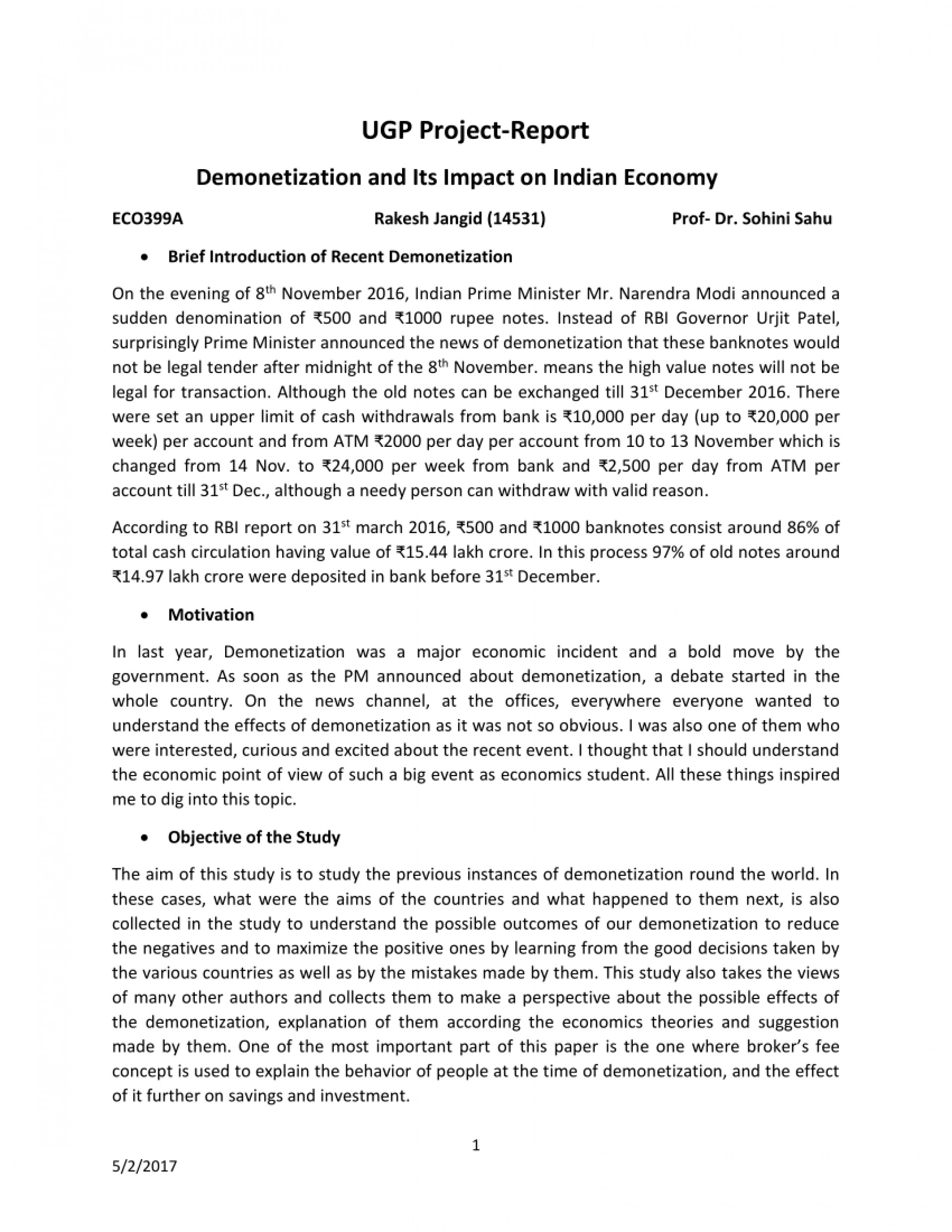001 Research Paper Largepreview Demonetization And Its Impact On Indian Frightening Economy 1920