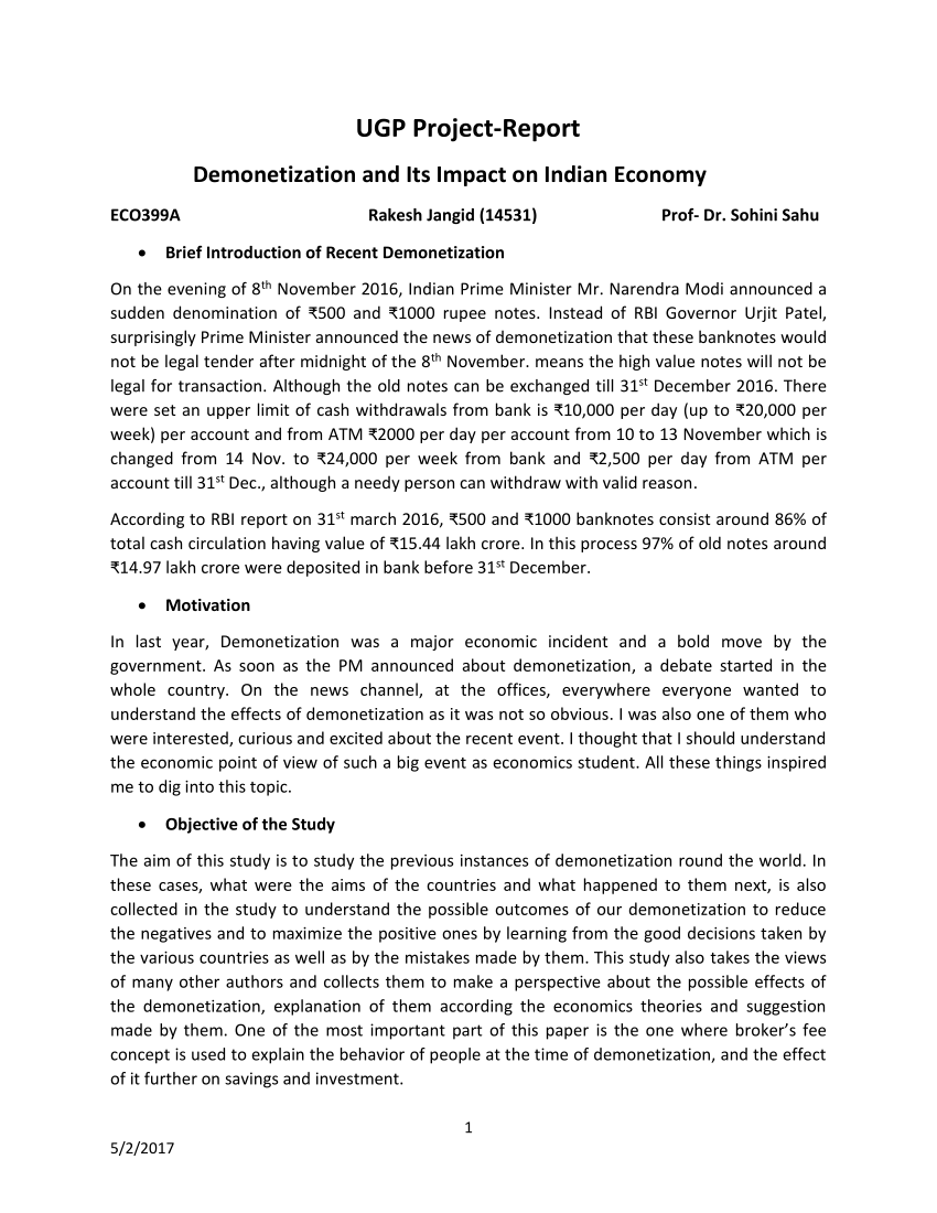 001 Research Paper Largepreview Demonetization And Its Impact On Indian Frightening Economy Full