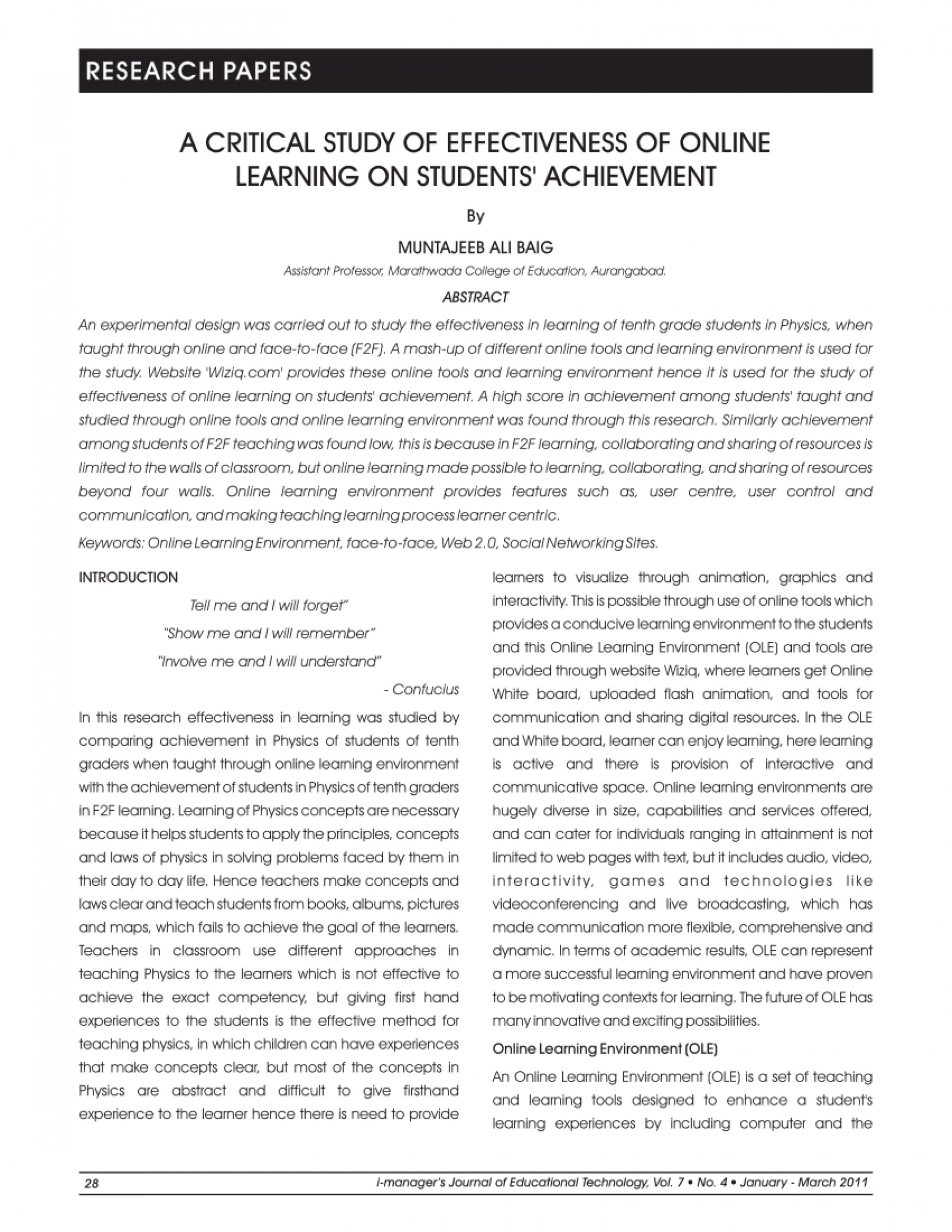 001 Research Paper Largepreview Effectiveness Of Online Amazing Education 1920
