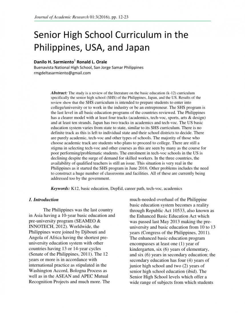 001 Research Paper Largepreview Example Of About Education In The Stupendous Philippines Title