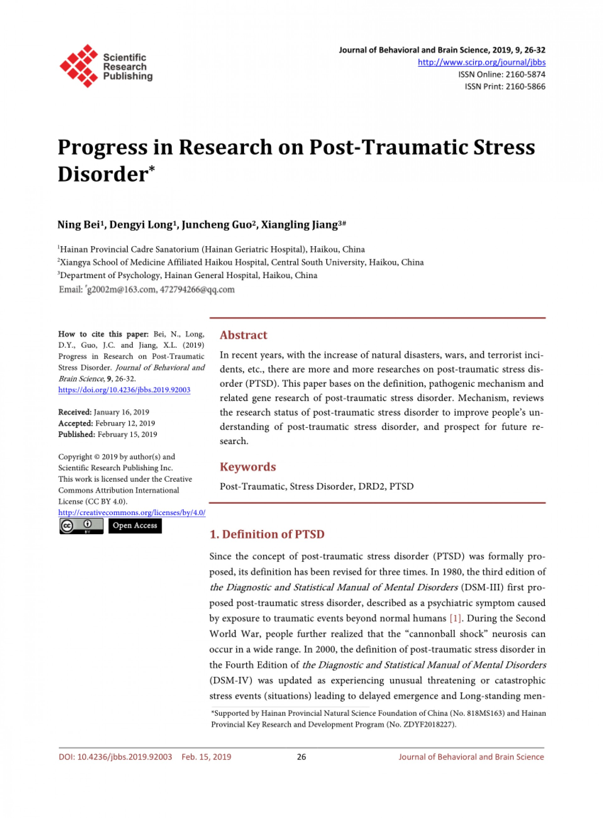 001 Research Paper Largepreview Latest On Post Traumatic Stress Magnificent Disorder Information Topics 1920