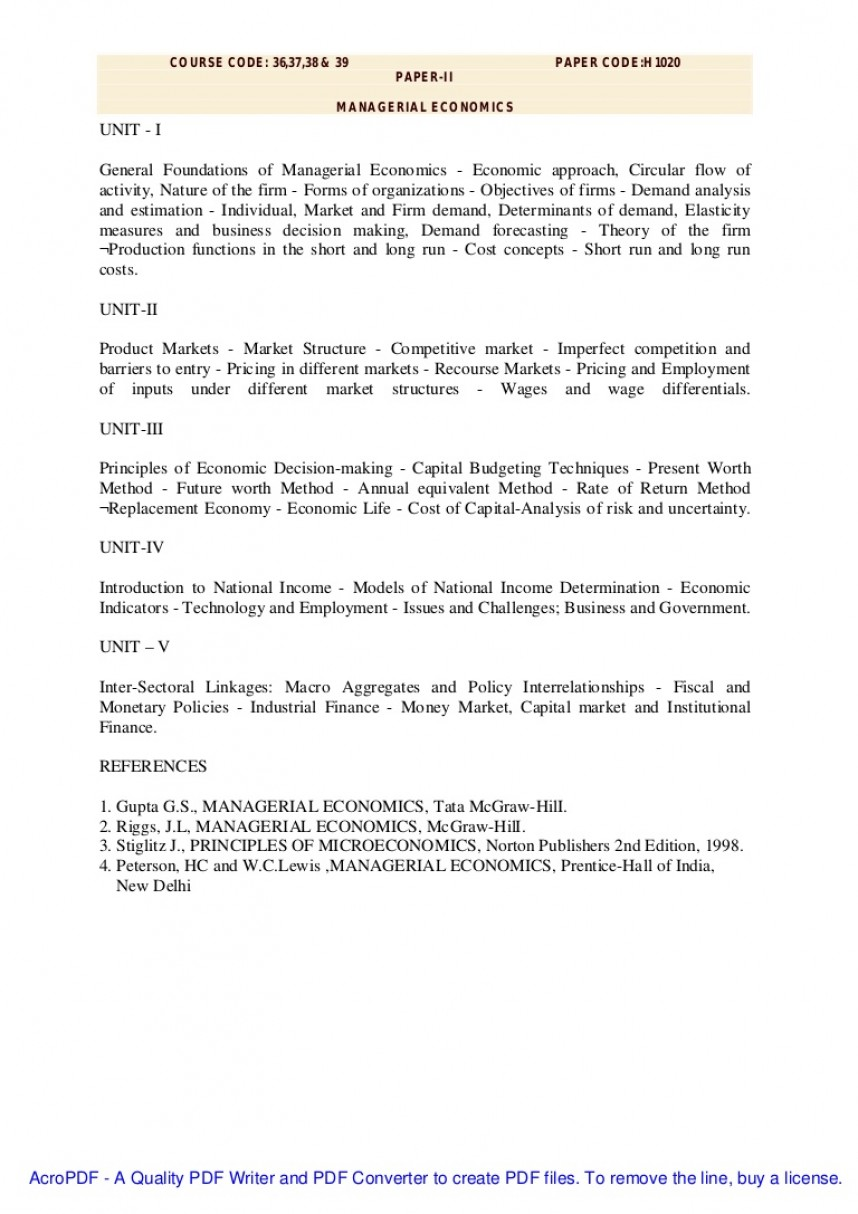 001 Research Paper Managerialeconomics Phpapp02 Thumbnail Managerial Economic Imposing Topics