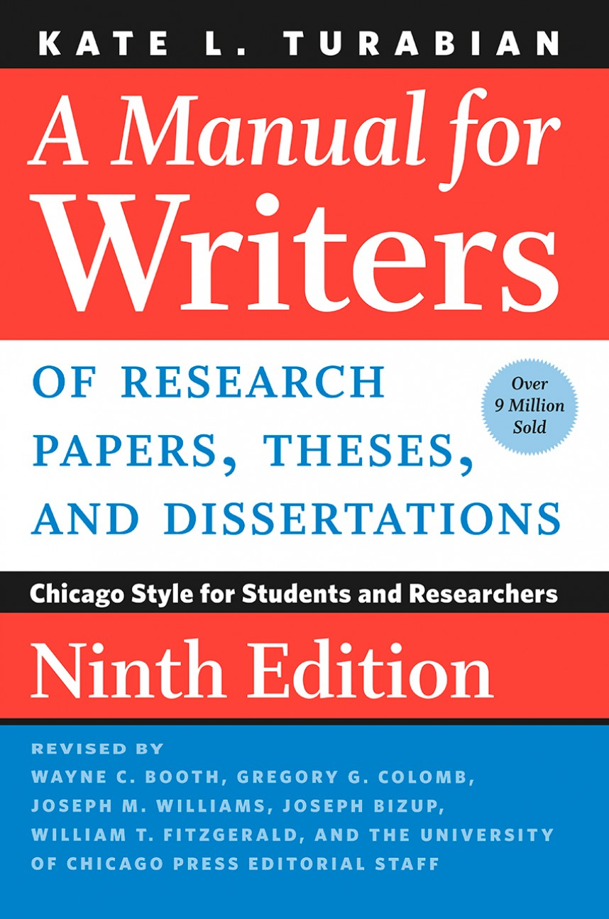 001 Research Paper Manual For Writers Of Papers Theses And Dissertations Fearsome A Ed 8