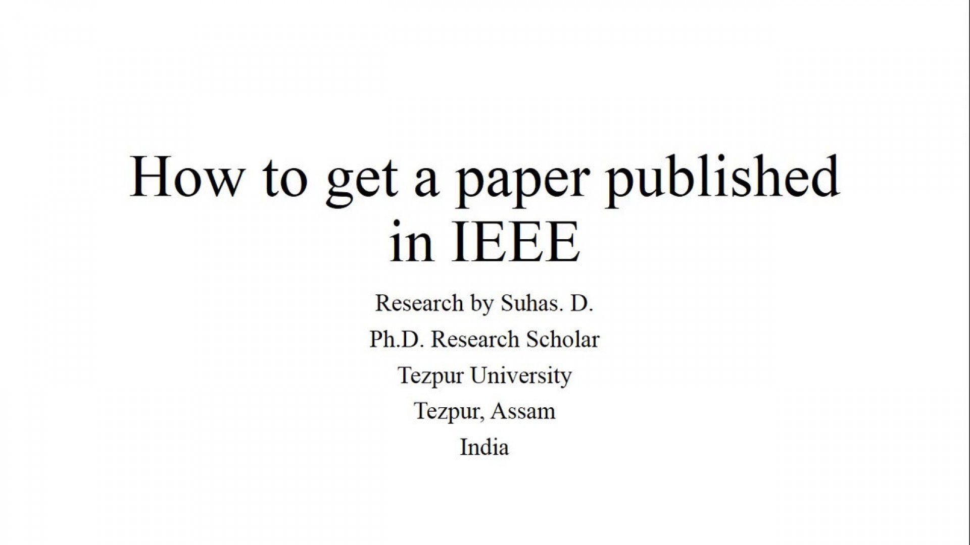001 Research Paper Maxresdefault How To Get Published Singular India 1920