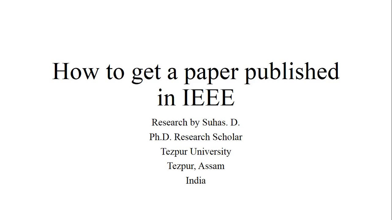 001 Research Paper Maxresdefault How To Get Published Singular India Full