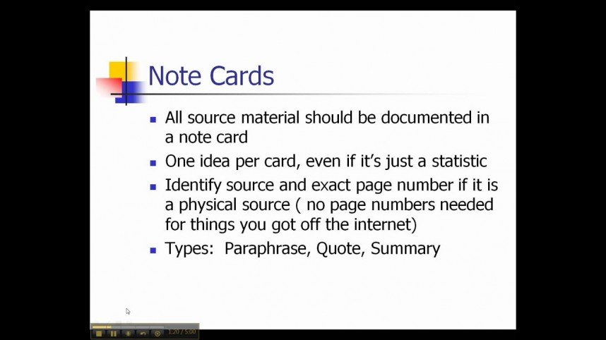 001 Research Paper Notecards For Papers Impressive How To Do Example Of