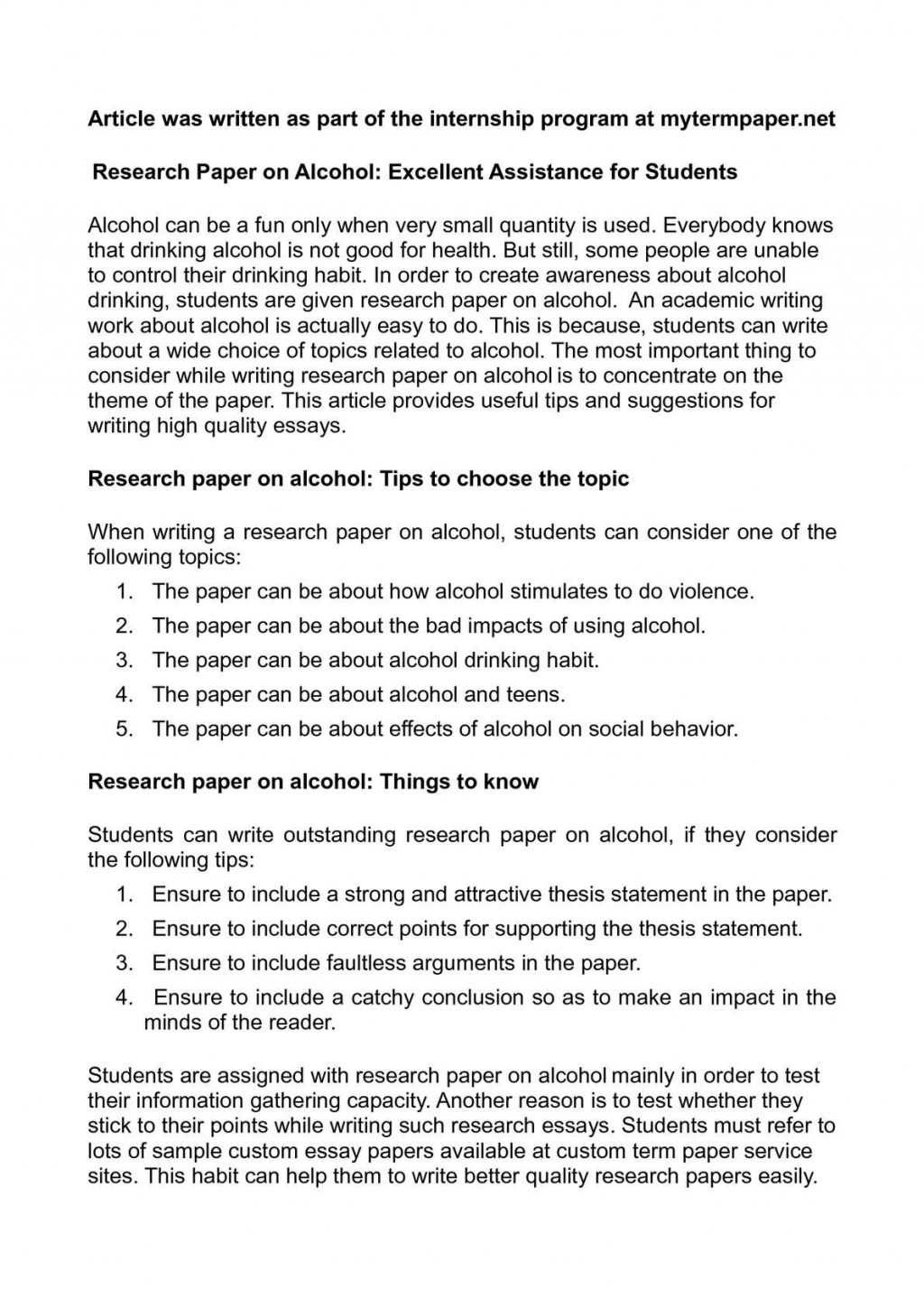 001 Research Paper On Alcohol Awesome Alcoholism And Family Articles Sample Substance Abuse Large
