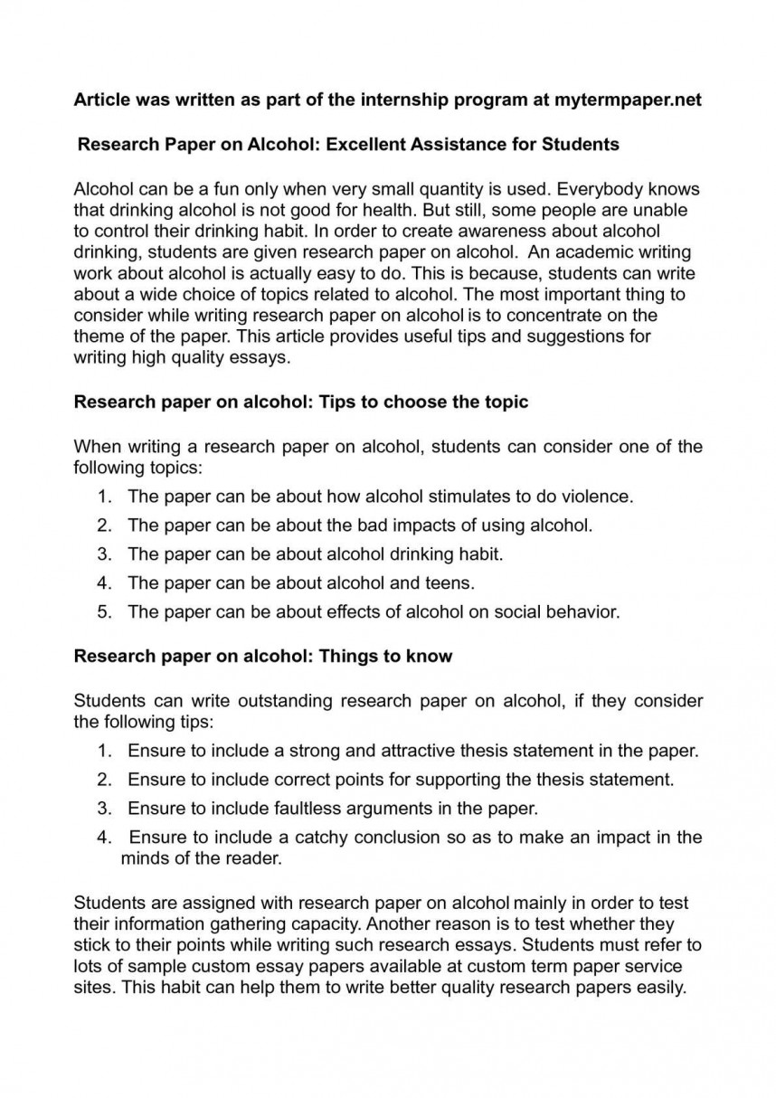 001 Research Paper On Alcohol Awesome Consumption Pdf Production Alcoholics Anonymous Opportunities And Alternatives